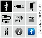 Usb Icons Set.