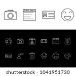package icon set and face with...