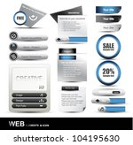 web design website element... | Shutterstock .eps vector #104195630
