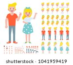 front  side  back view animated ...   Shutterstock .eps vector #1041959419