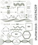 set of various vector text...   Shutterstock .eps vector #104196209