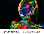 concept. on the body of a girl... | Shutterstock . vector #1041969166