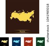map of russia | Shutterstock .eps vector #1041985018