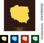 map of poland | Shutterstock .eps vector #1041985030