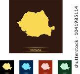 map of romania | Shutterstock .eps vector #1041985114