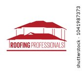 house roof logotype or sign... | Shutterstock .eps vector #1041987373