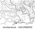 coloring book. funny dinosaur... | Shutterstock .eps vector #1041988900