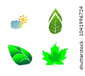 icon nature with summer  tree ... | Shutterstock .eps vector #1041996724