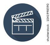 clapboard flat icon | Shutterstock .eps vector #1041998590