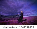 girl on lavender field | Shutterstock . vector #1041998959