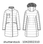 moncler jacket padding set... | Shutterstock .eps vector #1042002310