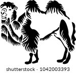 stencil for laser cutting.... | Shutterstock .eps vector #1042003393