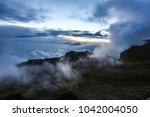 summit of mount kilimanjaro... | Shutterstock . vector #1042004050