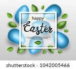 abstract background with easter ... | Shutterstock .eps vector #1042005466
