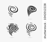 vector illustration set of wind ... | Shutterstock .eps vector #1042012228