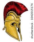 a trojan  spartan ancient greek ...   Shutterstock .eps vector #1042015174