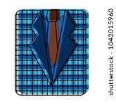 retro checkered shirt and...   Shutterstock .eps vector #1042015960