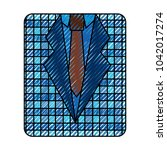 retro checkered shirt and...   Shutterstock .eps vector #1042017274
