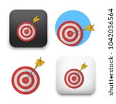 red darts target aim.... | Shutterstock .eps vector #1042036564