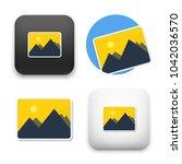flat vector icon   illustration ... | Shutterstock .eps vector #1042036570