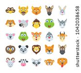 flat vector icons set of... | Shutterstock .eps vector #1042038658