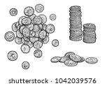 money  coins illustration ... | Shutterstock .eps vector #1042039576