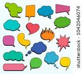 set of  colorful comic speech... | Shutterstock .eps vector #1042046074