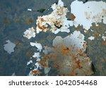 zinc rust closeup  metal rust... | Shutterstock . vector #1042054468