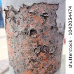 zinc rust closeup  metal rust... | Shutterstock . vector #1042054474