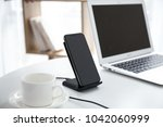 Small photo of Wireless charging indoor scene map, leisurely office space