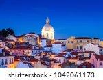 sight of alfama in lisbon ... | Shutterstock . vector #1042061173