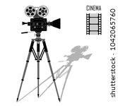 movie film camera icon on...   Shutterstock .eps vector #1042065760