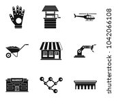 desire icons set. simple set of ... | Shutterstock .eps vector #1042066108