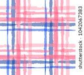 kilt texture. seamless grunge... | Shutterstock .eps vector #1042067383