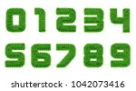 collection of  numbers.  green... | Shutterstock .eps vector #1042073416