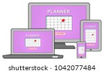 event adding on planner concept ... | Shutterstock . vector #1042077484