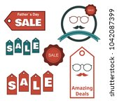 labels and stickers set for... | Shutterstock .eps vector #1042087399