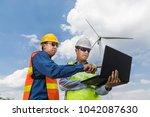 construction or technology... | Shutterstock . vector #1042087630