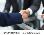 business men making handshake.... | Shutterstock . vector #1042092133