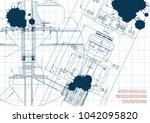 mechanical engineering drawings.... | Shutterstock .eps vector #1042095820