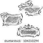 black stains | Shutterstock .eps vector #104210294