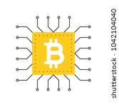 bitcoin icon  cryptocurrency... | Shutterstock .eps vector #1042104040