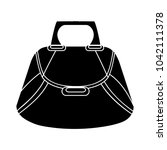female handbag flat icon | Shutterstock .eps vector #1042111378