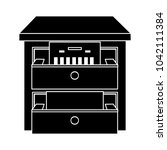 cabinet archive flat icon | Shutterstock .eps vector #1042111384