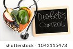 diabetes diet control and... | Shutterstock . vector #1042115473