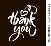 thank you text on black... | Shutterstock .eps vector #1042115818