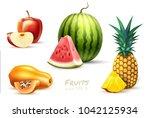 pineapple apple watermelon...   Shutterstock .eps vector #1042125934