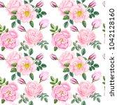 watercolor hand painted pink... | Shutterstock . vector #1042128160