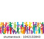 colorful abstract pictograms... | Shutterstock .eps vector #1042132843