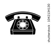 vector retro old phone icon  ... | Shutterstock .eps vector #1042134130